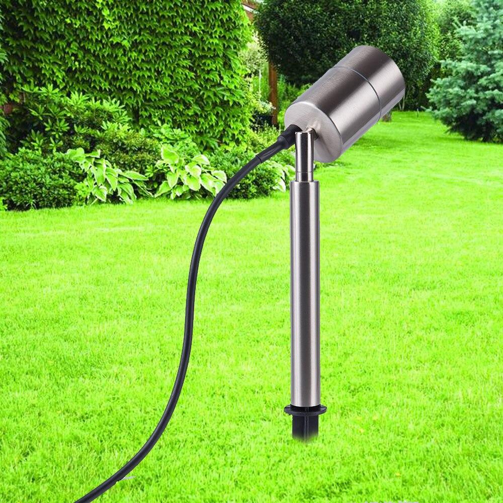 مصباح حديقة من الفولاذ المقاوم للصدأ ، مصباح كشاف مقاوم للماء مع سبايك ، إضاءة خارجية ، إضاءة منظر طبيعي ، مثالي للحديقة أو المسار.