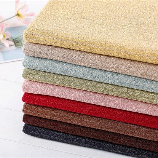 Tejido de algodón teñido de hilo japonés Jacquard corrugado grueso de 50*140cm para coser vestido de retazos bolsa de edredón bolso tela