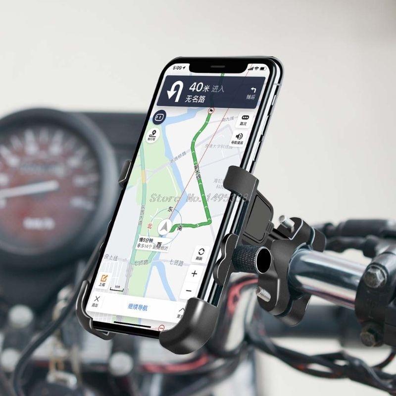 Espejo de manillar de motocicleta 12V impermeable QC 3,0 USB cargador rápido soporte de montaje para teléfono móvil 4,3-7 pulgadas