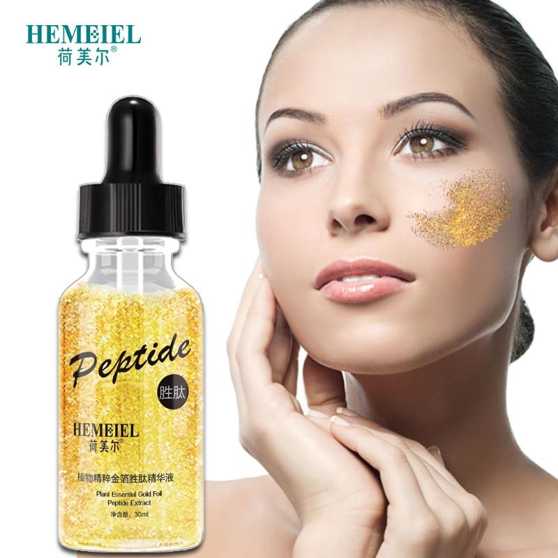 HEMEIEL 24K Gold Serum for Face Anti Aging Wrinkle Removal Whitening Facial Essence Elastic Firming Skin Care  Korea Beauty 30ml