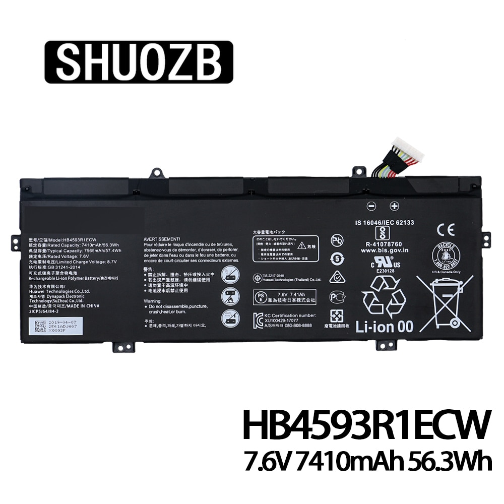 SHUOZB HB4593R1ECW بطارية كمبيوتر محمول لهواوي الشرف Magicbook 14