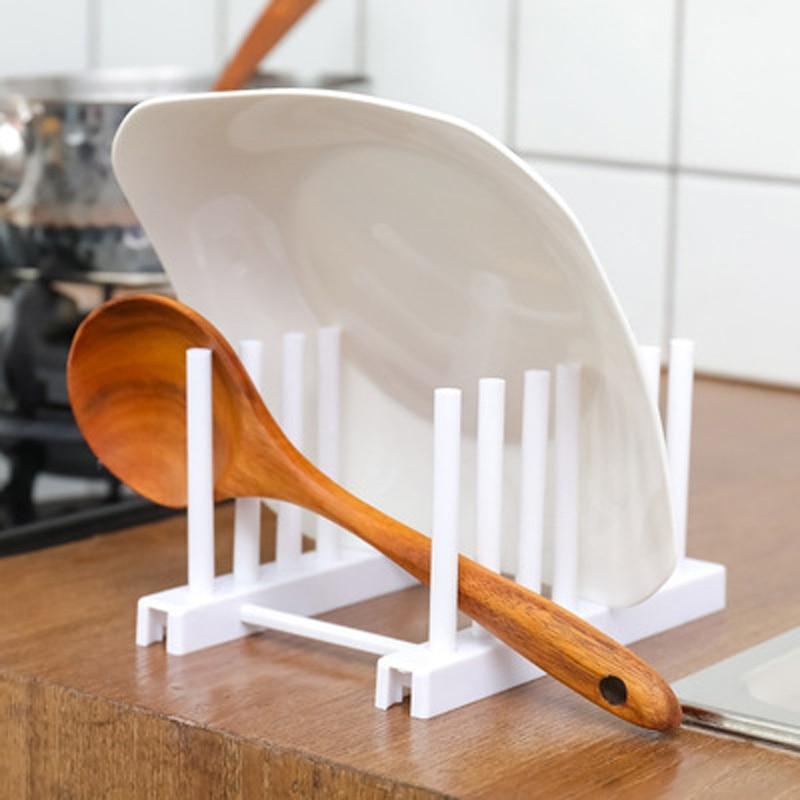 Estante de acero inoxidable, soporte de cuchara, tapa de olla, organizador de cocina, repisa para tapa de olla, soporte de cocina, accesorios de cocina