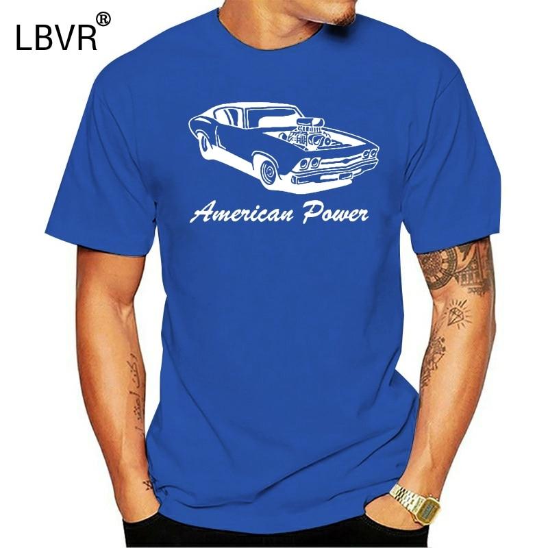T-shirt-American Power Supercharged Racing Chevy Nova Chevelle 396 427 70er