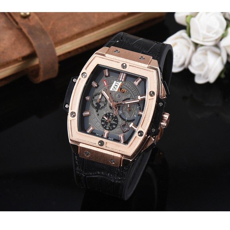 Reloj de cuarzo de lujo a la moda para hombre, reloj de pulsera impermeable Luminoso a la moda deportiva informal para hombre, reloj de pulsera de goma para hombre