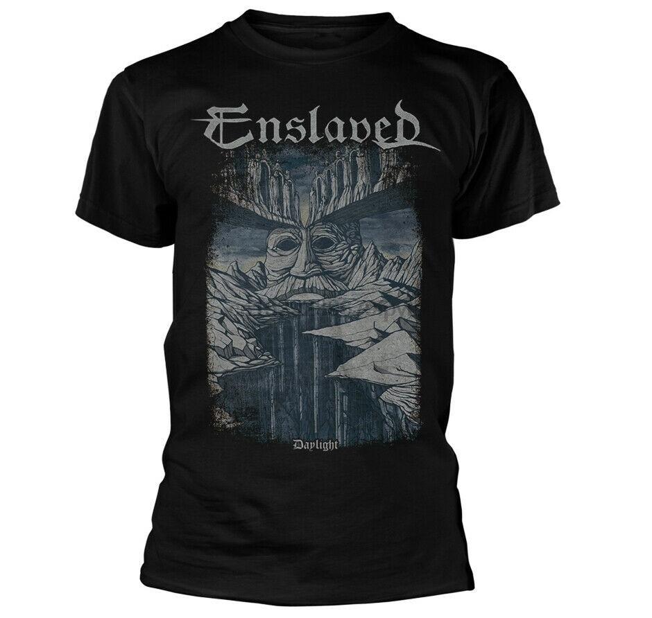 Camisa de luz do dia escravizada s m l xxl preto metal camiseta oficial da faixa tshirt
