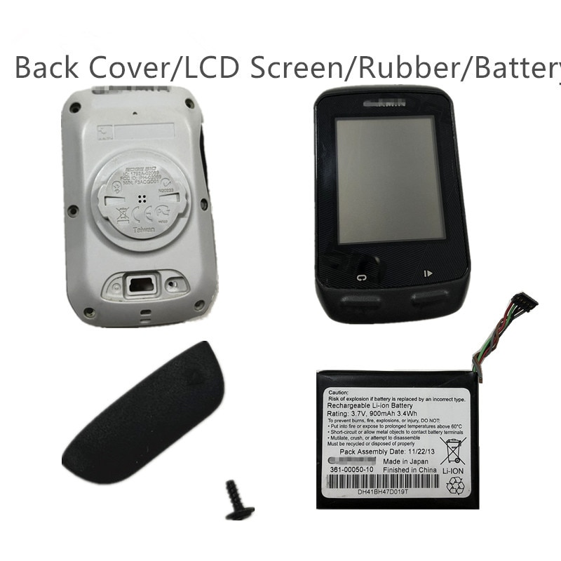 LCD Screen/Back Cover/Battery 361-00050-10 for Garmin EDGE 510 Garmin Bike GPS Computer Replacement Repair Parts