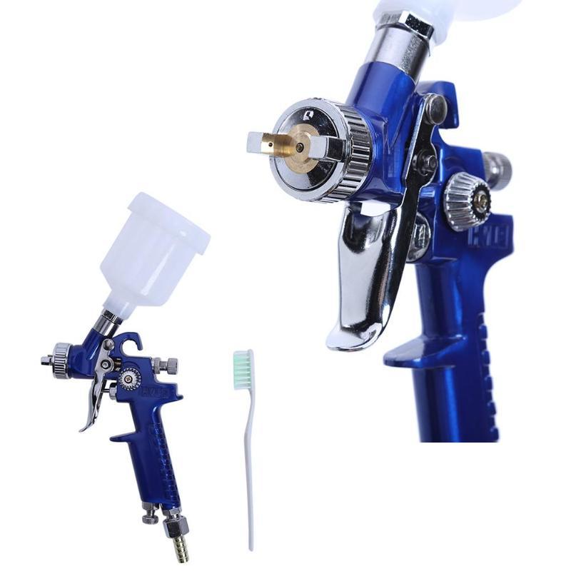 0,8/1,0mm Spray Gu Airbrush boquilla H-2000 Mini pistola de pintura de aire aerógrafo HVLP PISTOLA DE PULVERIZACIÓN para pintura coches Aerograph Airbrushs