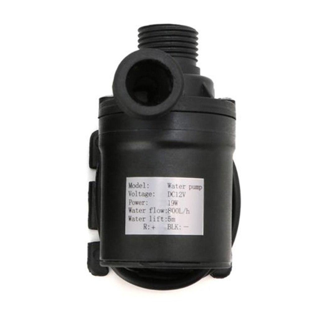 Ultra silencioso mini dc12/24 v 800l/h brushless motor submersível bomba de água elétrica resistente ao calor
