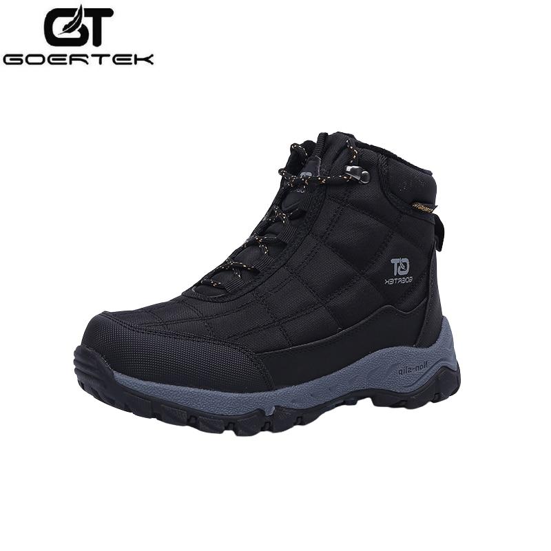 GT الصبي الشتاء المشي أحذية الأطفال في الهواء الطلق الرحلات الأحذية للماء أفخم Linned الجبلية أحذية الاطفال يندبروف الأحذية