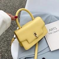 womens mini pu leather flap crossbody bags sale ladies yellow shoulder handbags 2021 female luxury famous brand totes
