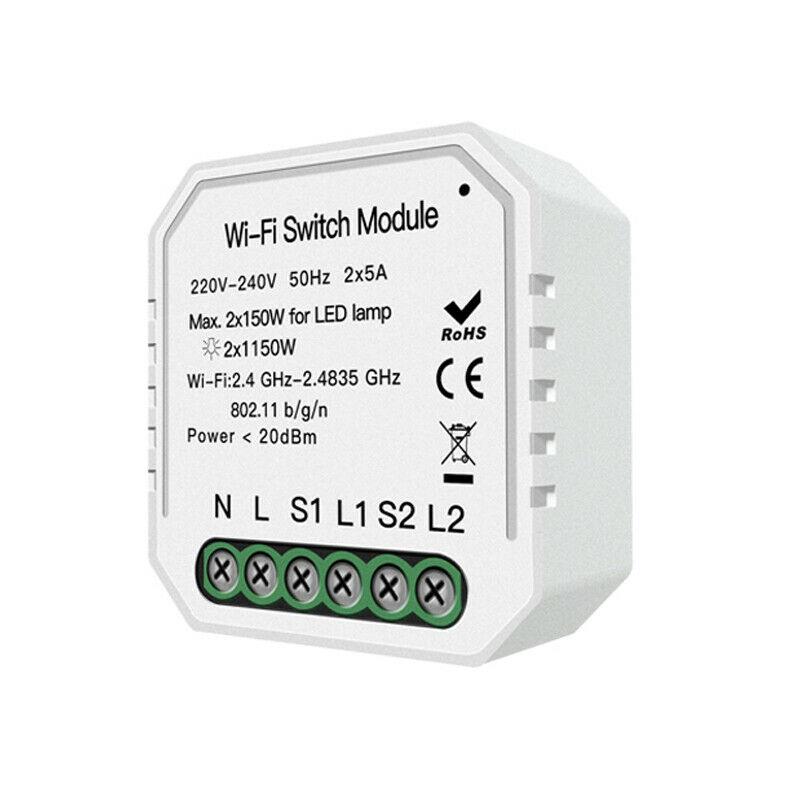 Smart WiFi Light Switch Module Smart Life/Tuya APP Remote Control Work with Alexa Google Home IFTTT