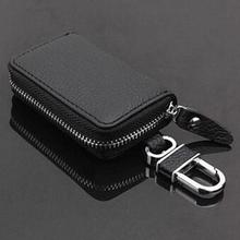 New PU Leather Keychain Car Key Wallets Unisex Key Holder Zipper Keys Ring Case Holder Chain Designe