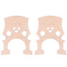 2 stück 3/4 4/4 Geregelte Doppel Bass Kontrabass Brücke Ahorn Ersatz Teile Cello Diy Musical Instrument Zubehör