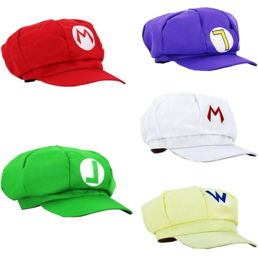 Супер Братья Марио Аниме восьмиугольная шапка Супер Марио Луиджи Odyssey головные уборы карнавальные вечерние бейсбольные костюмы плюсы для взрослых детей