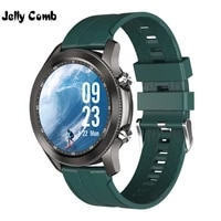 jelly comb 1 28 full touch music play smart watch waterproof bluetooth call men sport smartwatch for android ios alloy case