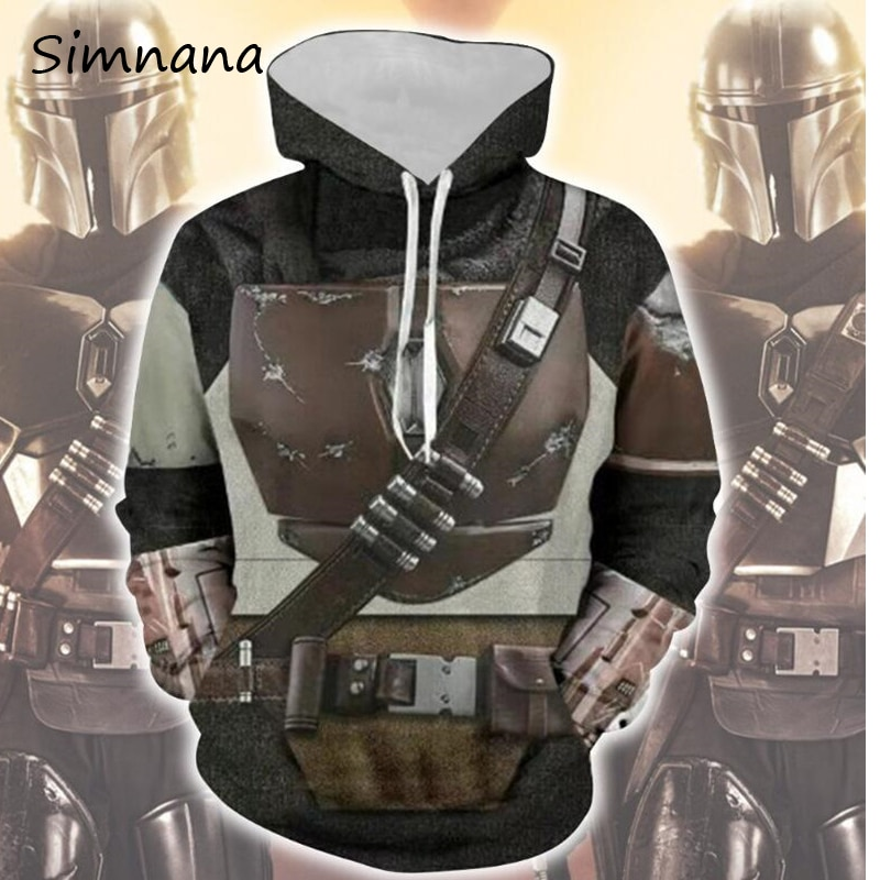 Star Wars The Mandalorian 3D imprimir Sudaderas Cosplay disfraces con capucha chaqueta Casual