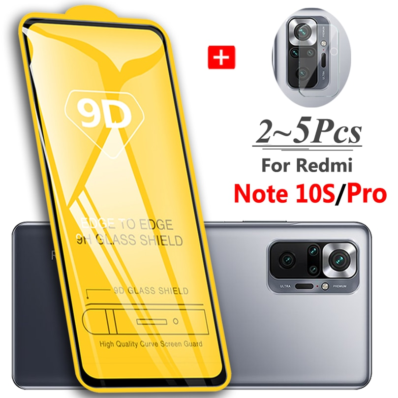 Protector Note 10Pro 10S, 9D vidrio transparente cristal para Xiaomi Redmi Note...