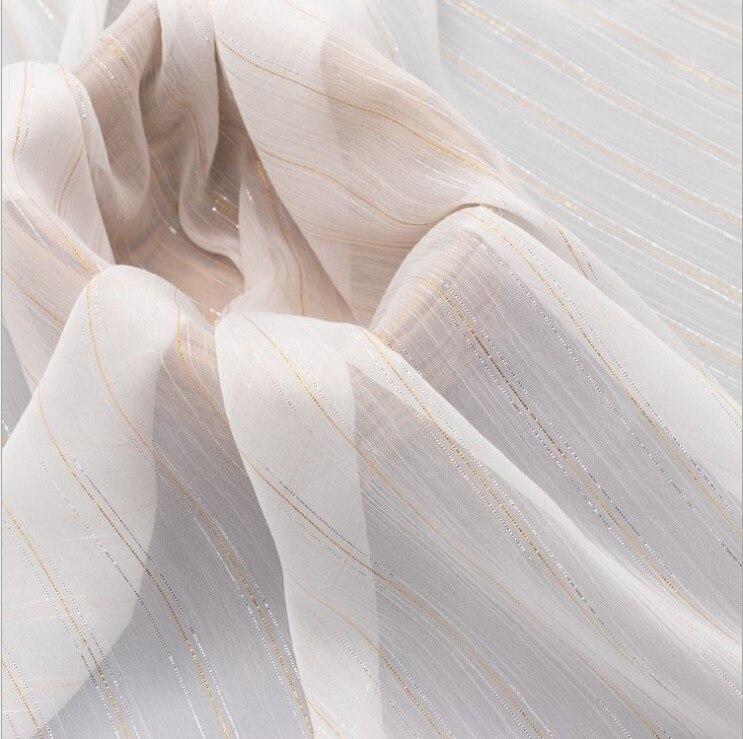 Crepé de gasa de oro y plata 10 metros 148 cm telas de gasa transparente blanco natural DIY hecho a mano o bufanda de vestido