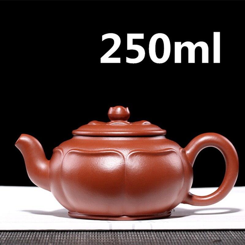 إبريق شاي صيني من البورسلين ييشينغ إبريق شاي جونغفو طقم شاي زيشا أصيص 250 مللي وصل حديثاً عالي الجودة مع صندوق هدايا تعبئة آمنة