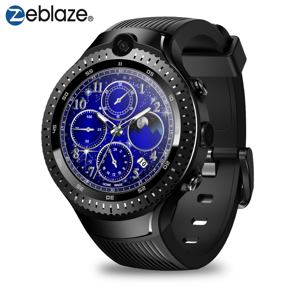 Zeblaze Thor 4 Dual Smartwatch Mtk6739 Quad Core 1.4Inch 5.0Mp+5.0Mp Camera 1Gb/16Gb Android 7.1 Os Support 4G Lte