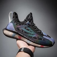 trendy shoes men new 2021 breathable mesh mesh shoes wide foot fat young students lightweight running sneakers with soft sole