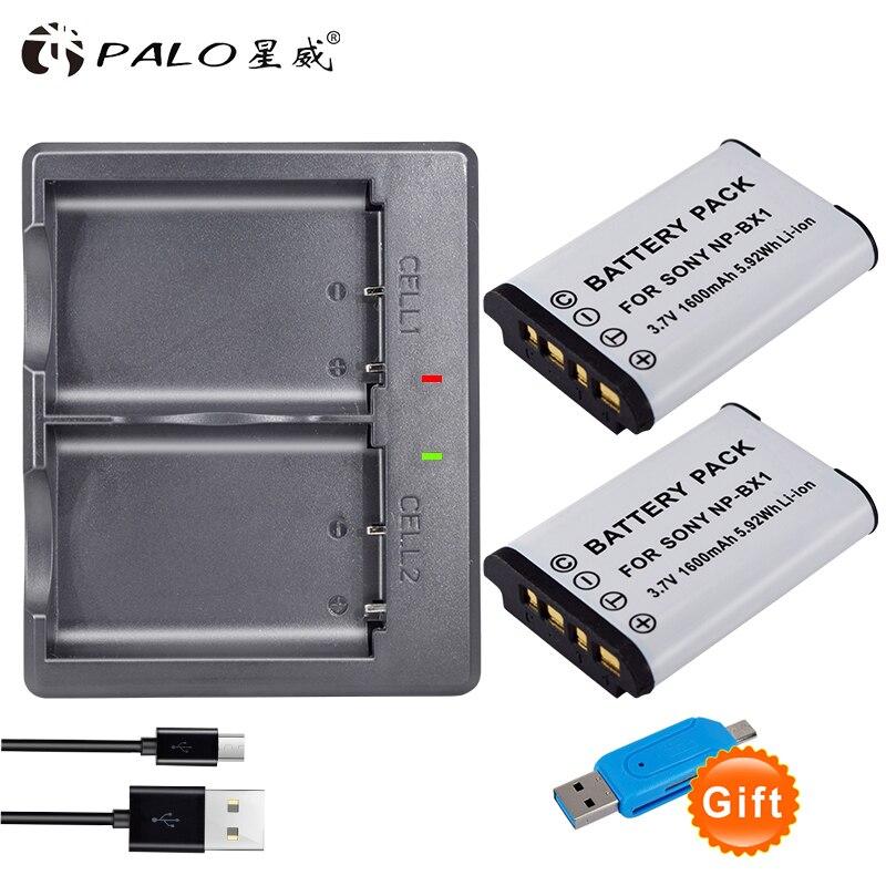 Batería de NP-BX1 Palo para Sony NP BX1 npbx1 np bx1 cargador de batería para sony DSC-RX100 DSC-WX500 IV HX300 WX300 HDR-AS15 X3000R