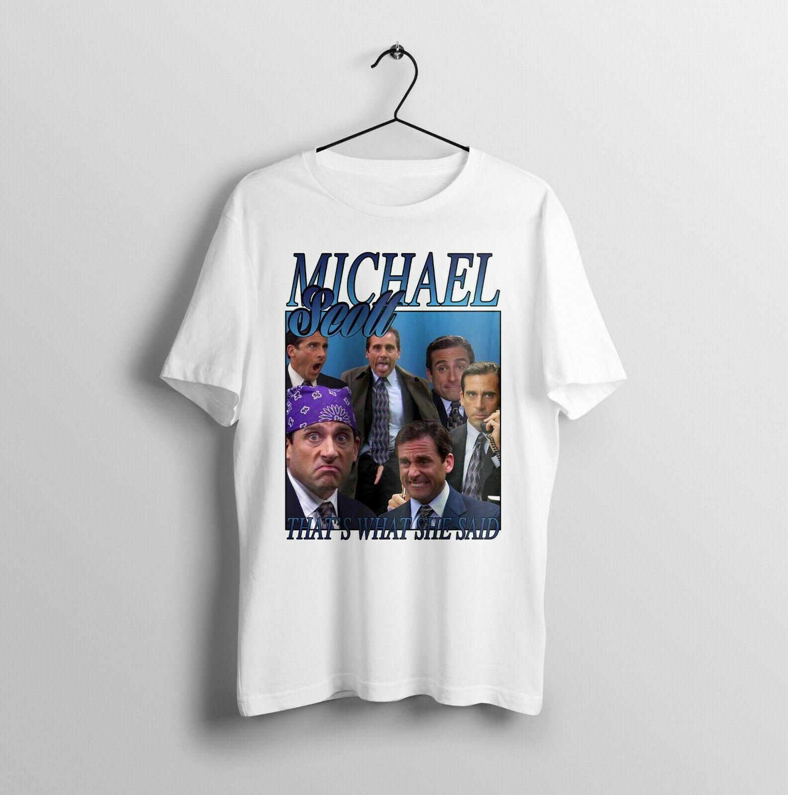 Michael Scott, la Oficina, divertido Vintage homenaje-Mens Unisex camiseta adulto verano Streewear tamaño S-3Xl
