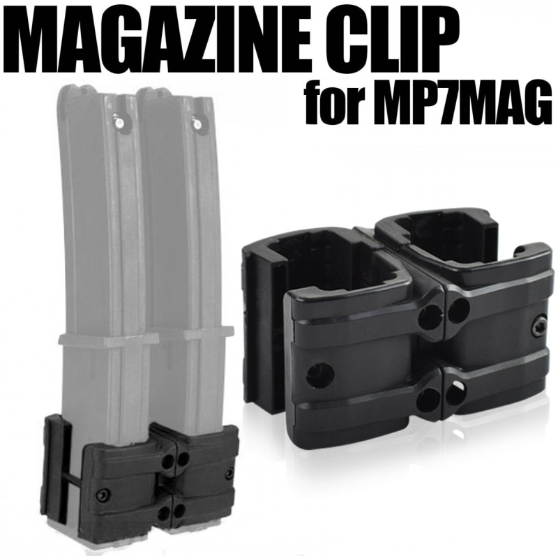 Airsoft MP7 Double Rifle Magazine Clip Gun Maglink Coupler Tactical Magazine Parallel Connector Military Hunting Accessories