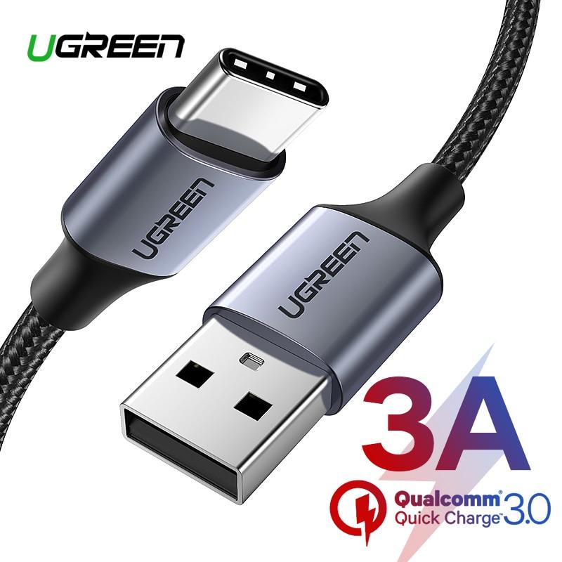 Ugreen-Cable USB tipo C para móvil, Cable de carga rápida para Xiaomi...