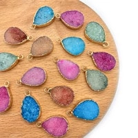 2pcspack natural semi precious stone pendants charms 4 colros diy for making necklace bracelets earrings accessions 15x24mm