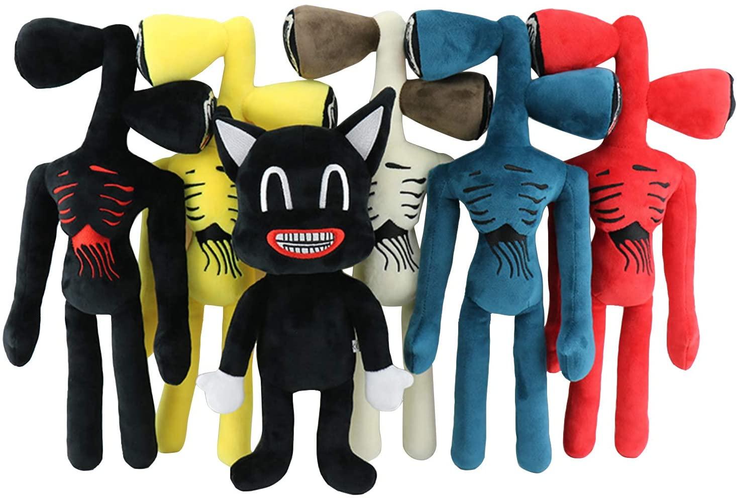 Плюшевая игрушка в виде черного мультяшного кота с головой сирены, плюшевые игрушки, мягкие игрушки-животные, кукла, ужас, плюшевые игрушки ...