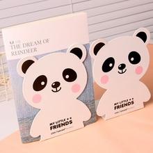 1Pair Cartoon Panda Bear Strong Metal Book Ends Book Stands Kids 6.5Inch 165mm Desk Accessories Organizer Home Office Deli 95423