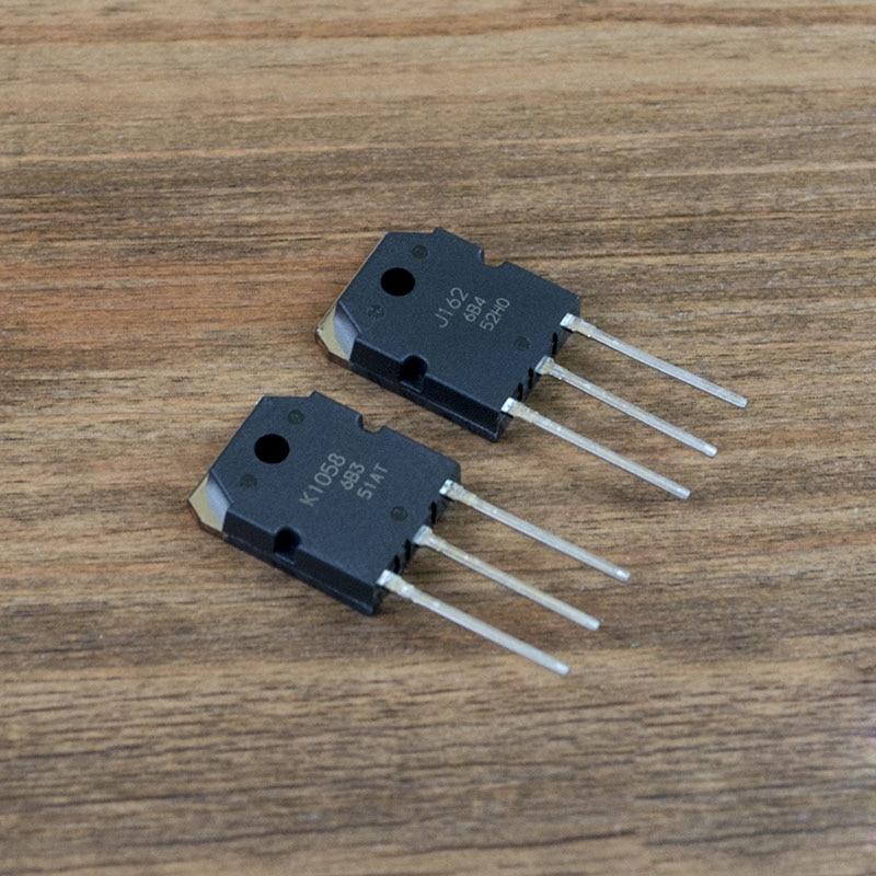 100% nuevo importado original 2SJ162 2SK1058 2SJ162 K1058 J162 a-247 tubo audible de alta potencia (1 par)