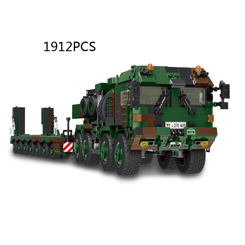 WW2 العسكرية ألمانيا رجل hx-81 خزان سيارة نقل نموذج batisbricks زارة التجارة بناء كتلة العالم الحرب SLT Mammut الطوب اللعب