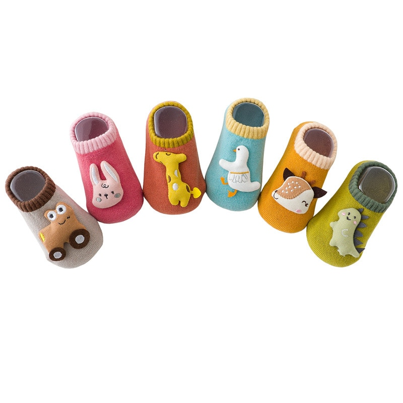 Baby Cotton Socks Shoes Walk Socks Shoes Non-slip Infant Toddler Floor Casual Toddler Anti-slip Sock