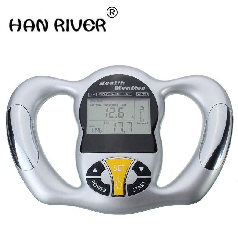 ¡Novedad! Mini Digital LCD portátil Digital de mano de índice de masa corporal medidor de IMC salud Monitor Analizador de grasa de alta calidad