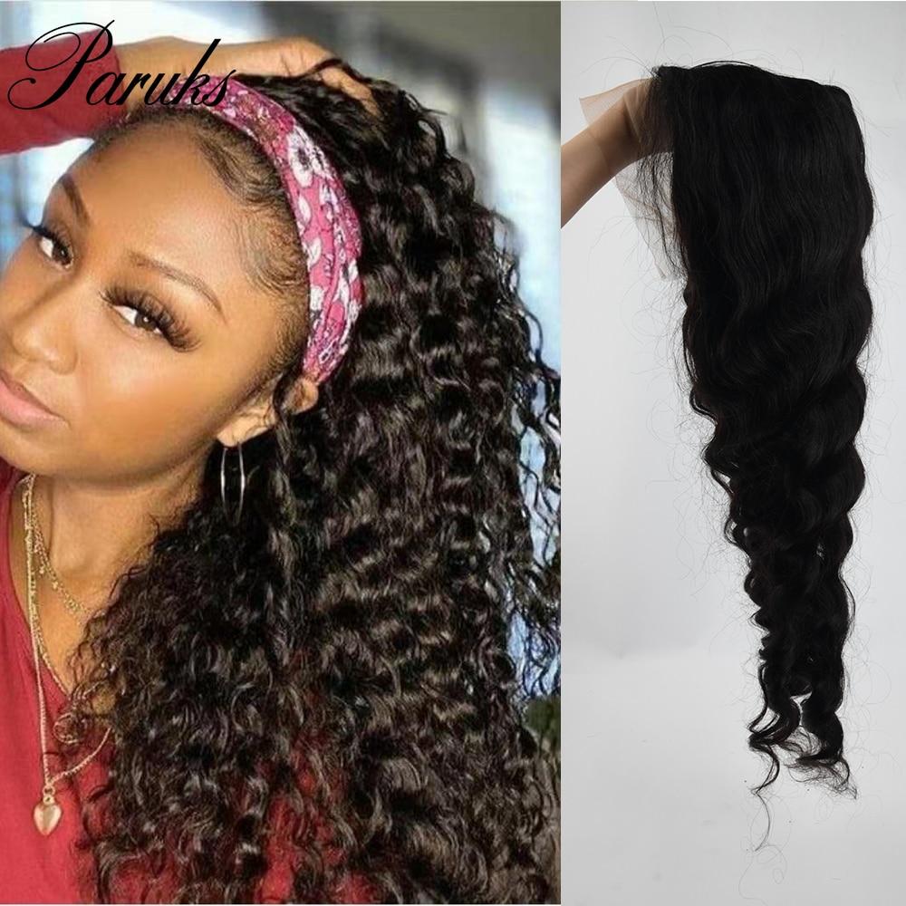 Paruks Malaysain Deep Wave Remy Hair Wig Human Hair Wigs T Part Remy Human Hair Wigs 100% Human Hair  For Women