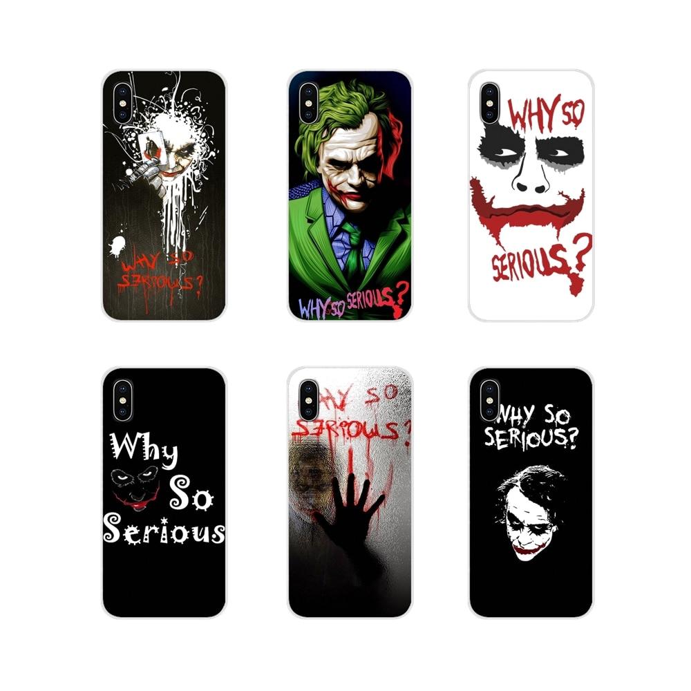 Película de terror Joker por qué es tan serio para Huawei Mate Honor 4C 5C 5X6X7 7A 7C 8 carcasa transparente 9 10 8C 8X20 Lite Pro TPU