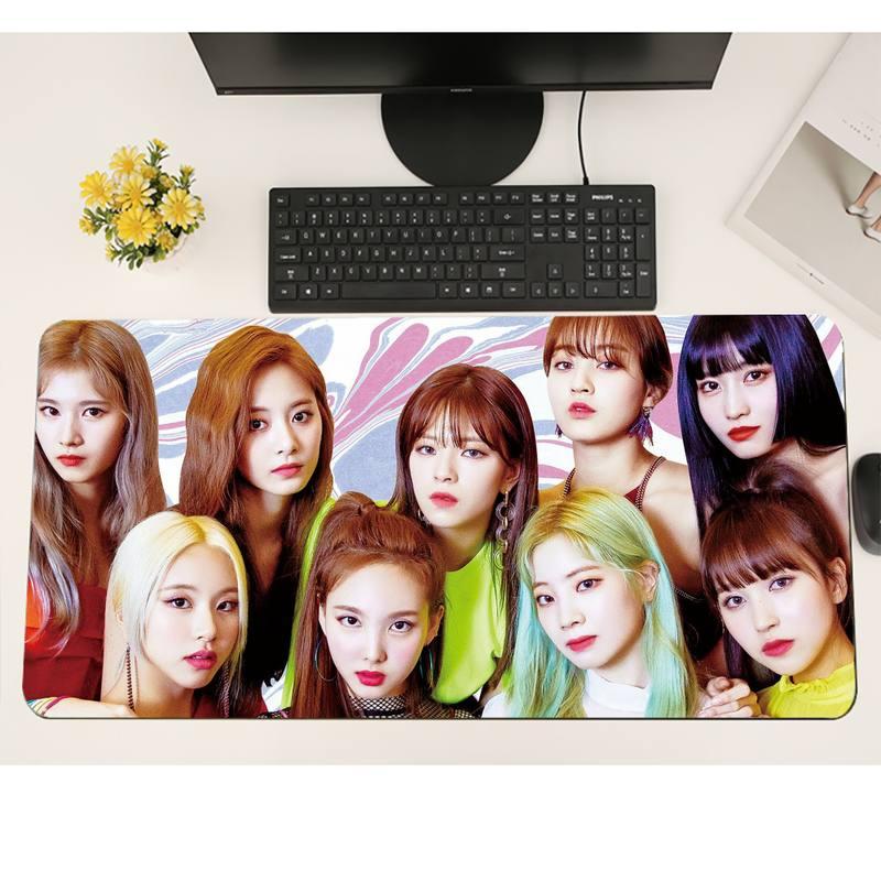 Twice kpop Gamer Speed Mice Retail Rubber Mousepad Gaming Mousemat XL Large Keyboard PC Desk Mat Takuo Anti-Slip Comfort Pad