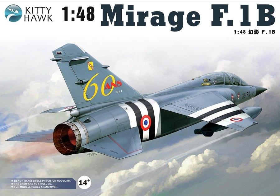 KittyHawk KH80112 148 escala Francia Mirage F.1B avión de combate avión militar avión juguete de plástico conjunto de construcción modelo Kit