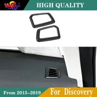 2pcs abs carbon fiber color dashboard front air outlet vent cover for land rover discovery sport 2015 2019 car styling