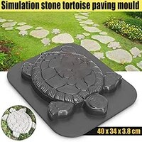 stone mold practical non stick abs turtle tortoise shape making stepping pathway mold for outdoor