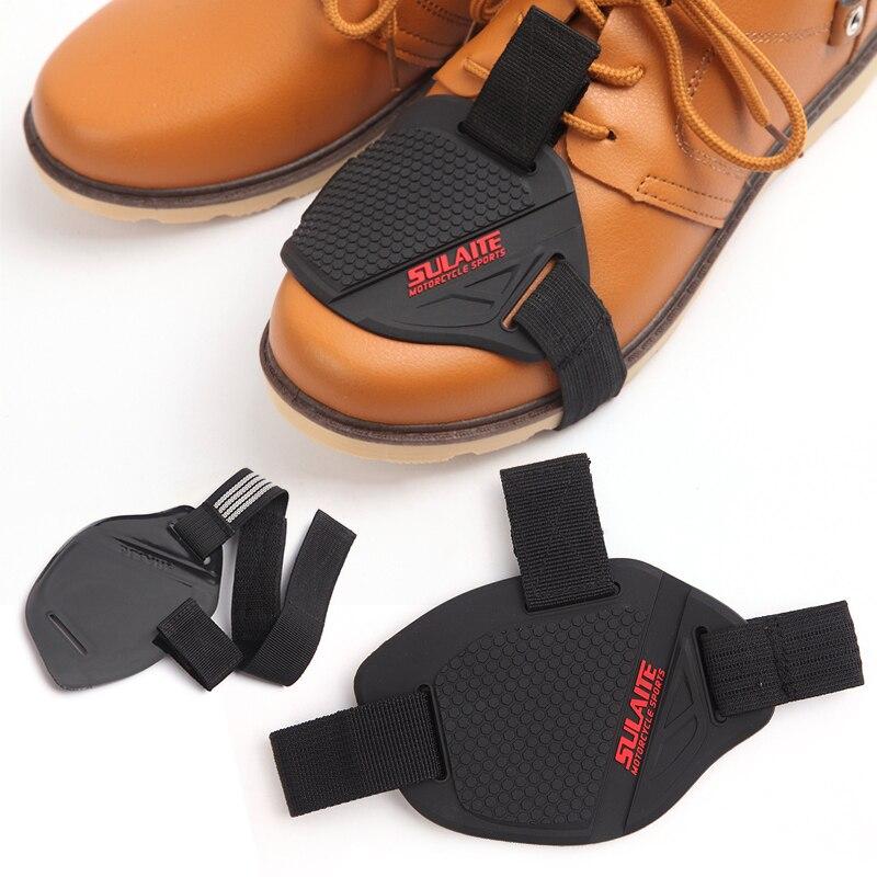 1 Pza negro motocicleta Shifter Cover botas Zapatos Protector cambio Protector suave TPU + cinturón tejido antideslizante tamaño libre