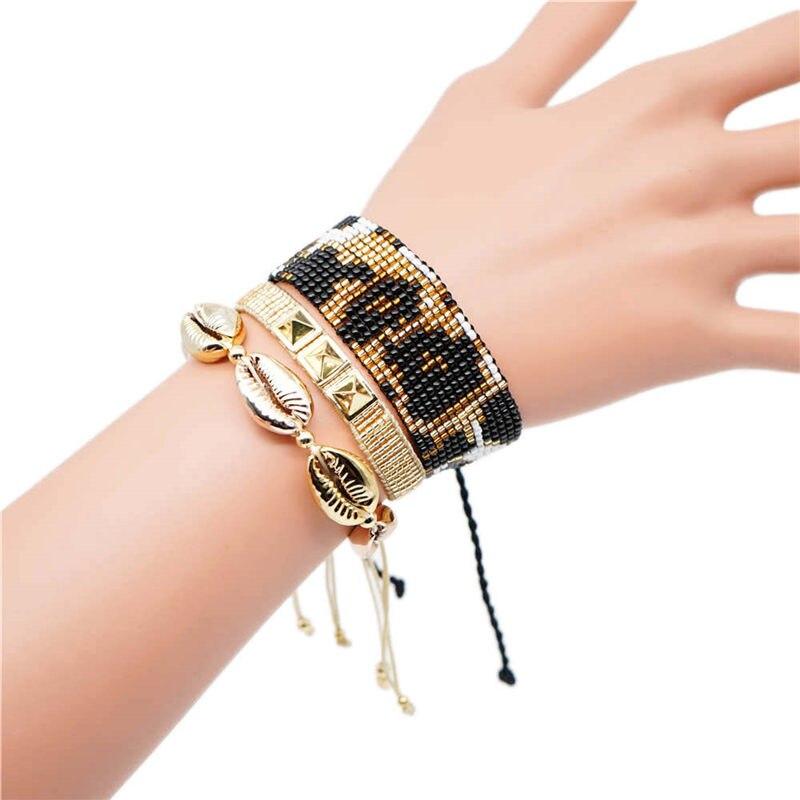 Go2boho Delica MIYUKI Armband Leopard Pulseras Mujer Moda 2019 Sommer Gold Shell Armband Für Frauen Boho Chic Schmuck Handgemachte
