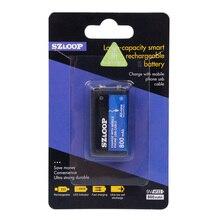 SZLOOP 9V 800mAh batería Lipo recargable USB para RC helicóptero modelo micrófono para RC helicóptero parte