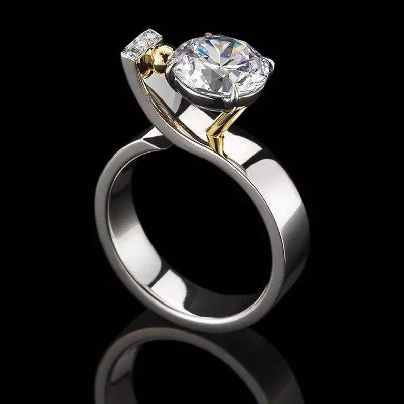2021 Fashion Women Rings Zircon Novel Matching Rings Engagement Wedding Bands Girlfriend Birthday Gift Jewelry