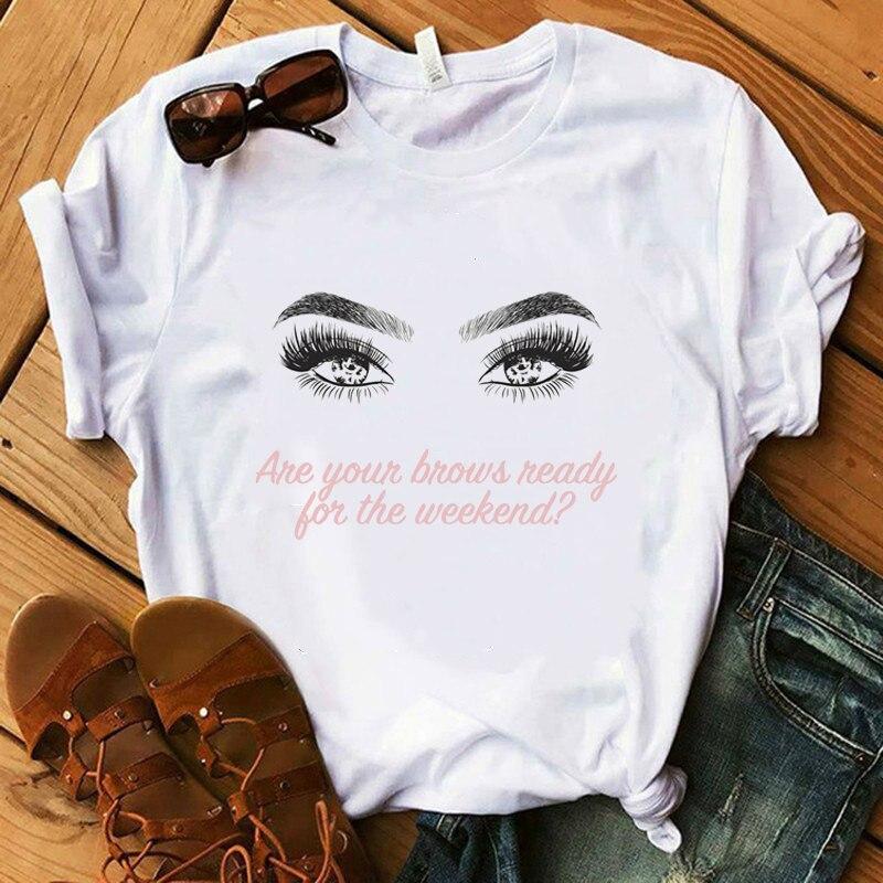 Camiseta con gráfico de moda 2020, camiseta de verano con pendiente Floral para mujer, camiseta harajuku, ropa de mujer, camiseta de manga corta Kawaii para mujer