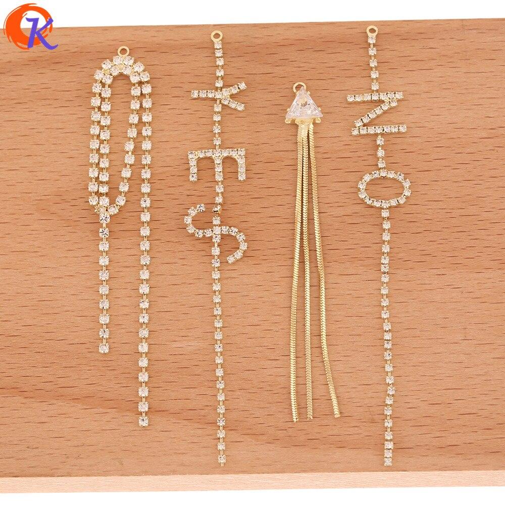 Cordial Design 50 Uds accesorios de la joyería/DIY encantos/Cadena de garras de strass/conectores para pendientes/hecho a mano/pendiente hallazgos
