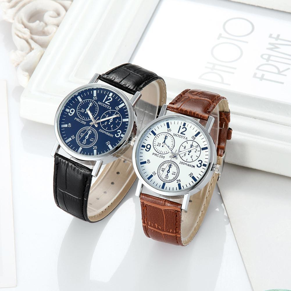 Men Quartz Business Watch With Leather Strap Wristwatch Watch Fashion Clock Luxury Lovers Gifts D3V4