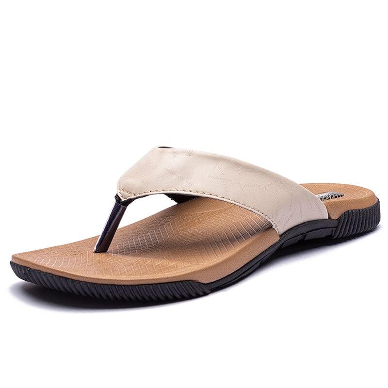 Plus rozmiar 40-46 moda japonki męskie letnie męskie kapcie wysokiej jakości plażowe sandały antypoślizgowe męskie buty zapatos de hombre